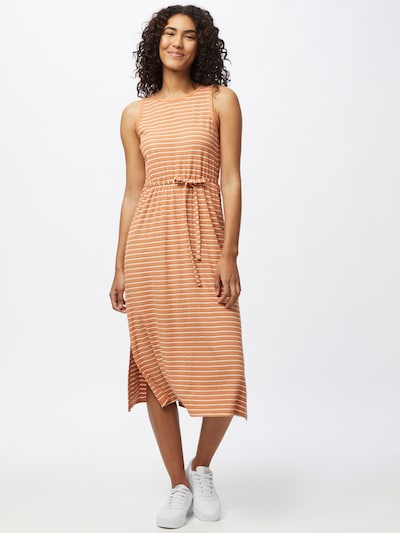 ICHI Kleid in pastellorange / weiß, Modelansicht