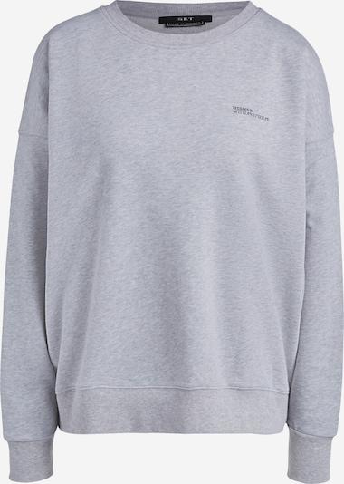 SET Sweatshirt in hellgrau: Frontalansicht