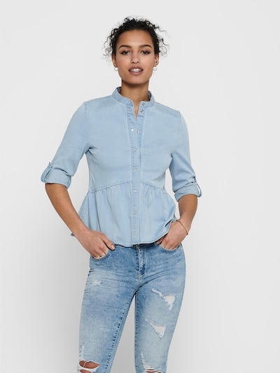 ONLY Bluse 'Chicago' in hellblau, Modelansicht