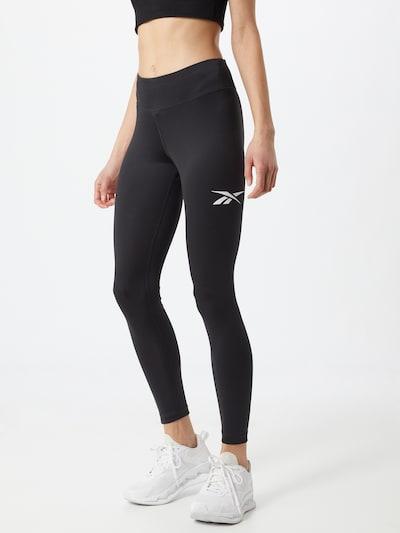 Reebok Classic Leggings in de kleur Zwart / Wit, Modelweergave