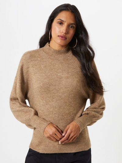Pullover 'Simone' VERO MODA di colore marrone: Vista frontale