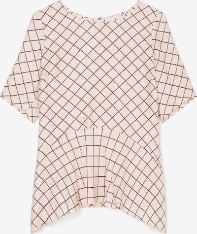Marc O'Polo Pure Bluse in braun / naturweiß, Produktansicht