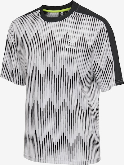 Hummel T-shirt S/S in grau / schwarz / weiß, Produktansicht
