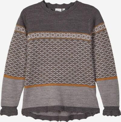 NAME IT Pullover in braun / hellgrau, Produktansicht