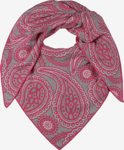 Zwillingsherz Pañuelo en gris moteado / rosa, Vista del producto