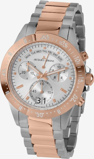 Jacques Lemans Uhr in grau / rosé, Produktansicht