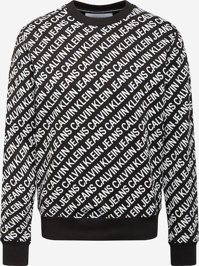 Calvin Klein Jeans Collegepaita värissä musta / valkoinen, Tuotenäkymä