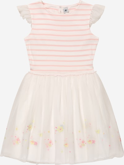 PETIT BATEAU Kleid in apricot / weiß, Produktansicht