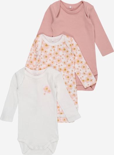 NAME IT Бебешки гащеризони/боди в пастелно жълто / бледорозово / пастелно розово / бяло, Преглед на продукта