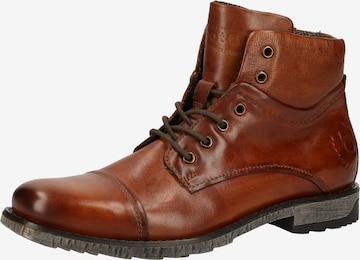 bugatti Lace-up boot in Brown