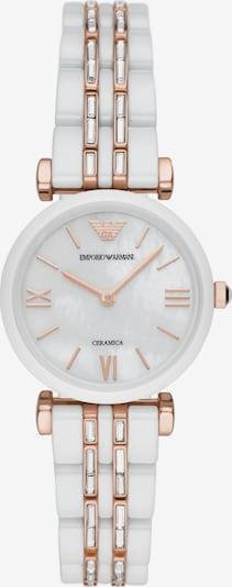 Emporio Armani Zegarek analogowy 'Two-Hand' w kolorze różowe złoto / przezroczysty / naturalna bielm, Podgląd produktu