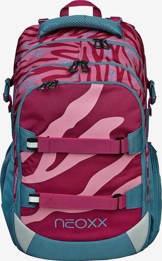 neoxx Schulrucksack in pastellblau / altrosa / rot, Produktansicht