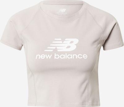 new balance T-Shirt 'PODIUM' in cappuccino / weiß, Produktansicht