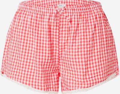 AERIE Pantalon de pyjama 'SEERSUCKER' en rouge / blanc, Vue avec produit