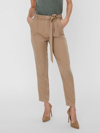 VERO MODA Plisované nohavice 'Mia' - svetlohnedá, Model/-ka
