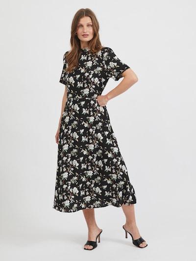 VILA Kleid 'Lana' in creme / schilf / jade / schwarz, Modelansicht