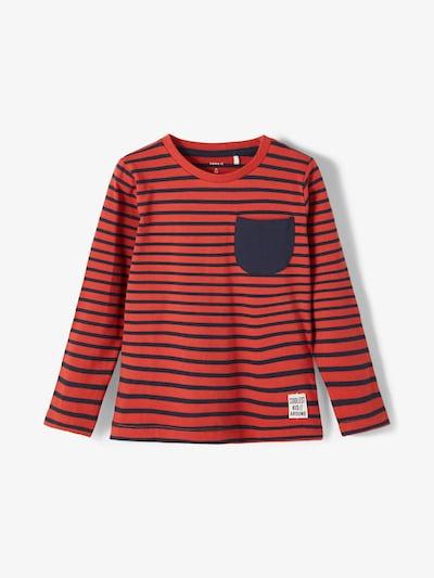 NAME IT Shirt 'Bomal' in dunkelblau / pastellrot, Produktansicht