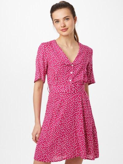 Trendyol Košulja haljina u roza / bijela, Prikaz modela