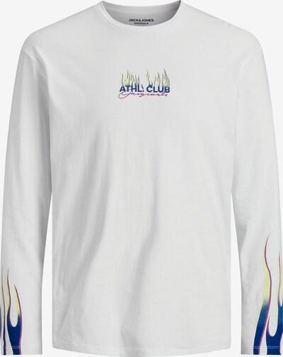 Maglietta 'Flame' JACK & JONES di colore blu / giallo neon / bianco, Visualizzazione prodotti