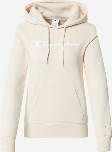 Champion Authentic Athletic Apparel Sweatshirt in beige / weiß, Produktansicht
