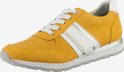 JANE KLAIN Sneakers in goldgelb / silber / weiß, Produktansicht