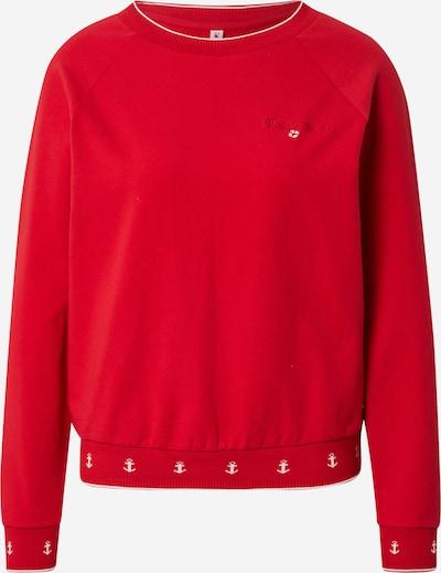 Blutsgeschwister Sweatshirt in de kleur Bloedrood / Wit, Productweergave