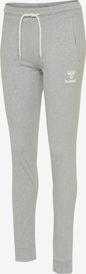 Hummel Sportbroek in de kleur Grijs gemêleerd / Wit, Productweergave