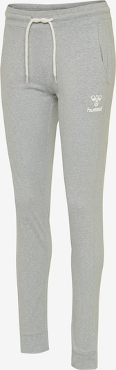 Hummel Pants in graumeliert / weiß, Produktansicht
