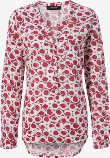 ANISTON Bluse in rot / weiß, Produktansicht
