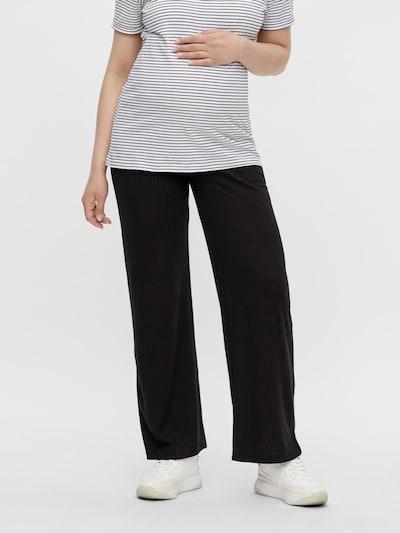 Pieces Maternity Панталон 'Molly' в черно: Изглед отпред
