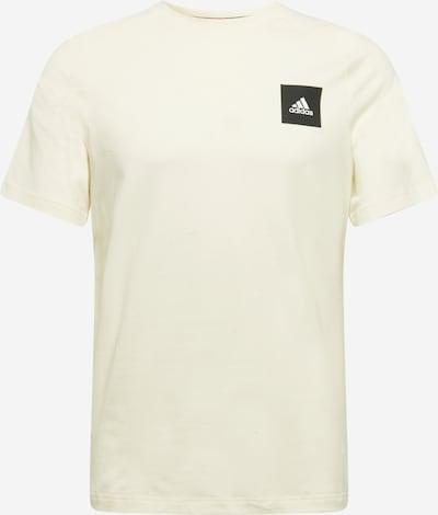 Sportiniai marškinėliai iš ADIDAS PERFORMANCE, spalva – juoda / balkšva, Prekių apžvalga