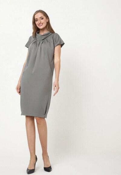 Madam-T Kleid 'PRIMAVERA' in grau, Modelansicht