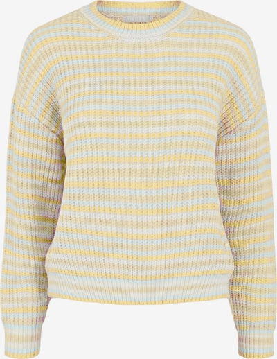 PIECES Sweater 'Gina' in Light blue / Yellow / Light yellow / White, Item view