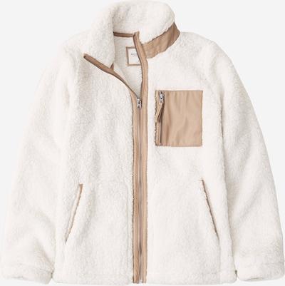 Abercrombie & Fitch Veste en polaire en beige / blanc, Vue avec produit