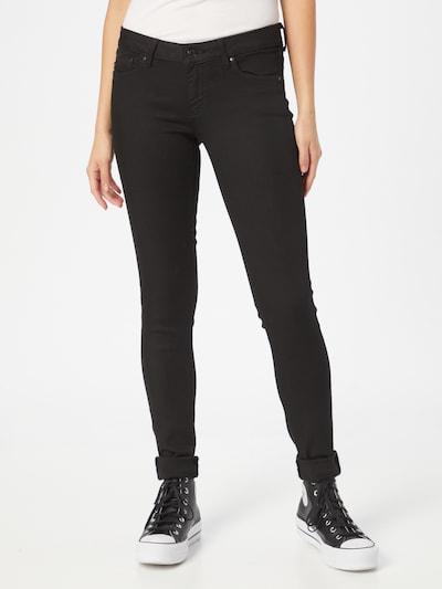Pepe Jeans Jeans 'Pixie' i svart denim: Sedd framifrån