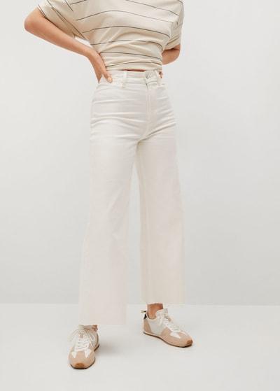 MANGO Hose in weiß, Modelansicht
