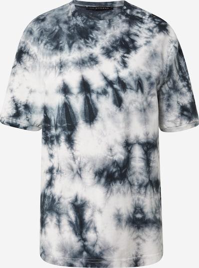 Trendyol T-shirt en bleu fumé / bleu nuit / blanc, Vue avec produit