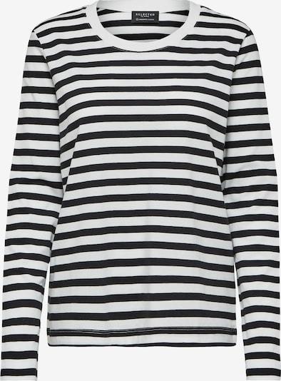 SELECTED FEMME Shirt in schwarz / weiß, Produktansicht