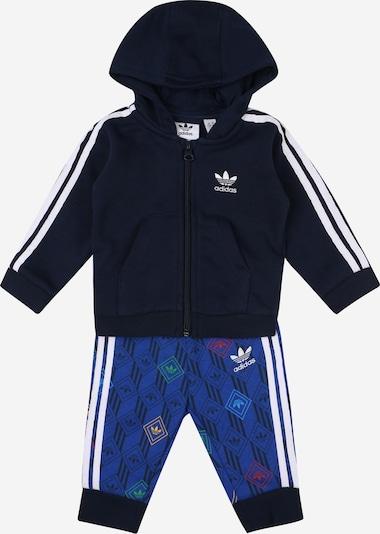 ADIDAS ORIGINALS Trainingsanzug in blau / dunkelblau / mischfarben / schwarz / weiß, Produktansicht