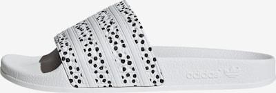 ADIDAS ORIGINALS Badeschuh 'Adilette' in schwarz / weiß, Produktansicht