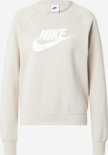 Nike Sportswear Sweatshirt 'ESSNTL' in cappuccino / weiß, Produktansicht