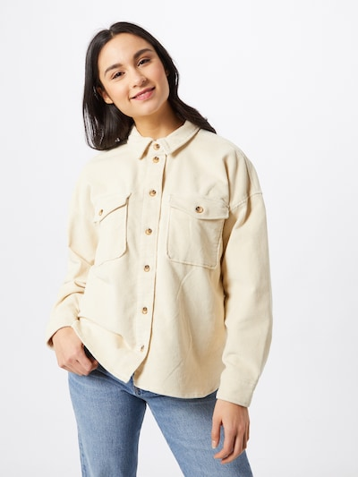 TOM TAILOR DENIM Blouse in de kleur Beige: Vooraanzicht