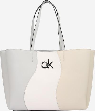 Calvin Klein Shopper i beige / creme / lysegrå, Produktvisning