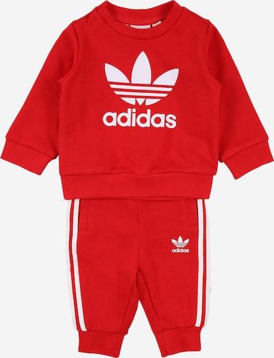 ADIDAS ORIGINALS Jogginganzug in rot / weiß, Produktansicht