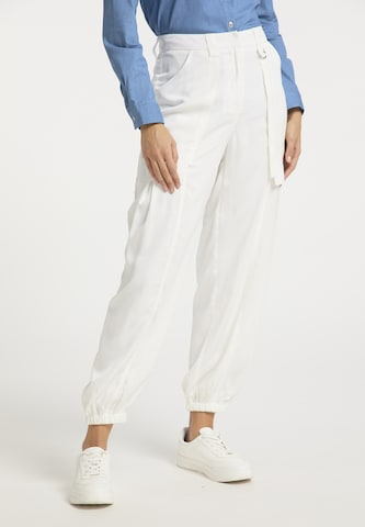 usha BLUE LABEL Παντελόνι cargo σε λευκό