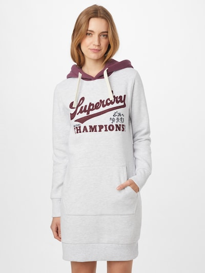 Superdry Kleid 'Collegiate Varsity' in pflaume / weißmeliert, Modelansicht