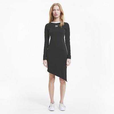PUMA Kleid in schwarz / weiß, Modelansicht