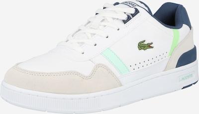 LACOSTE Sneakers laag 'T-CLIP' in de kleur Beige / Navy / Wit, Productweergave
