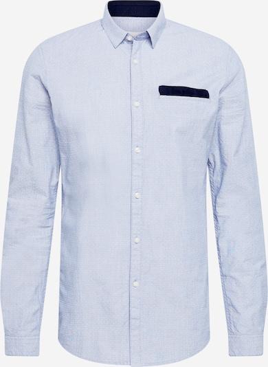 TOM TAILOR DENIM Hemd in navy / hellblau / weiß, Produktansicht