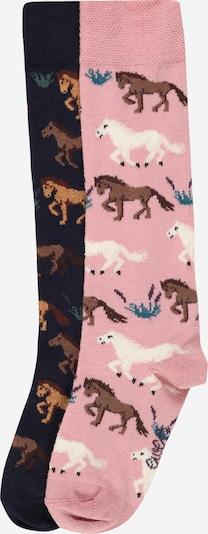 EWERS Sokken 'Pferde' in de kleur Navy / Gemengde kleuren / Rosa, Productweergave
